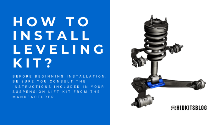 how to install leveling kit