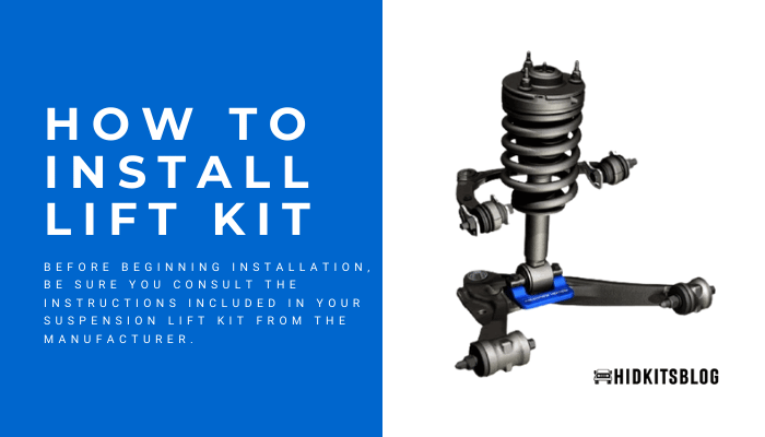 how to install lift kit
