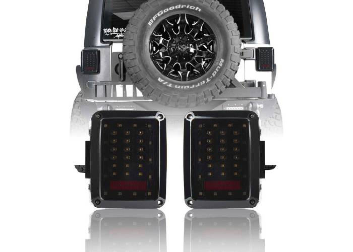 V8 GOD Jeep Wrangler LED Tail Lights